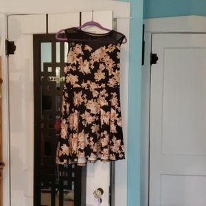 Floral illusion dress, Large